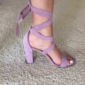 Lavender Wrap up Heels